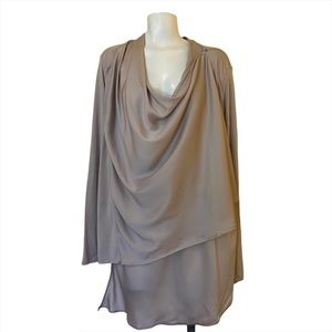 Lysse Wrap Top Gray Size Small